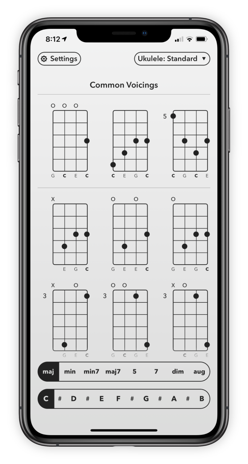 Chord finding interface.