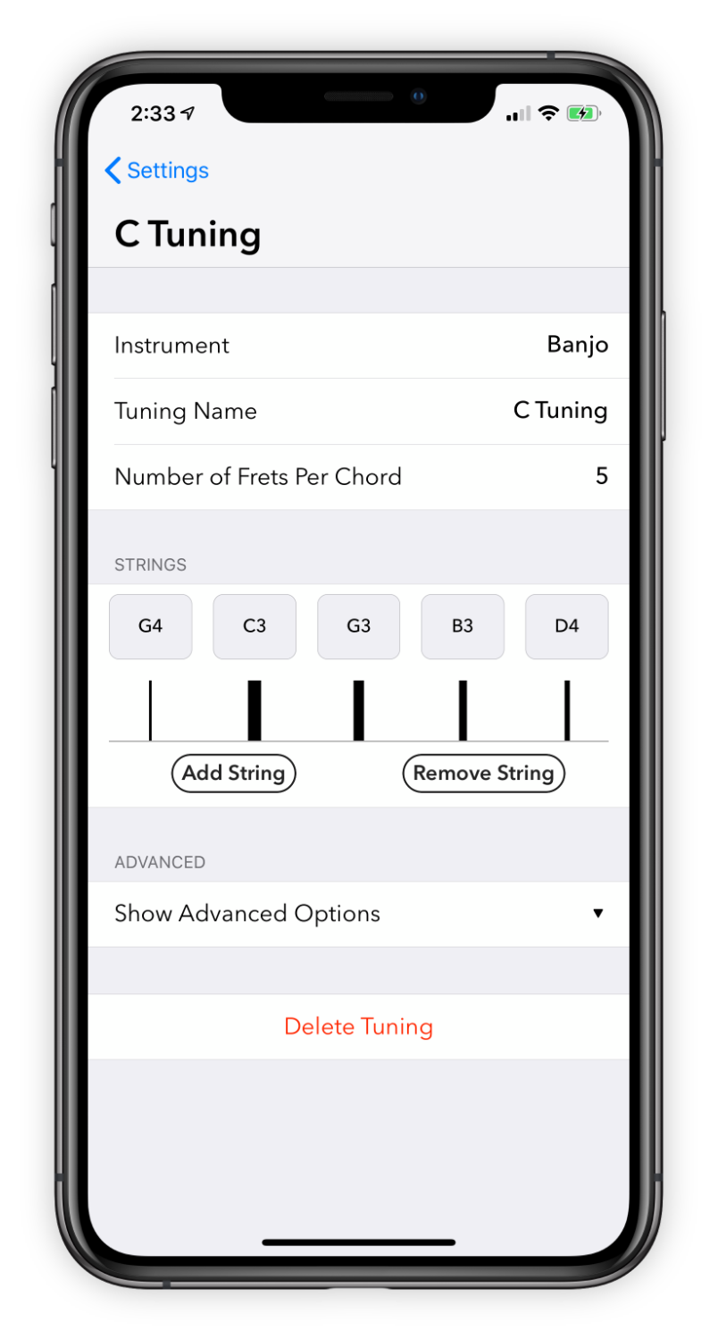Interface for adding custom tunings.